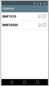 Print da Tela do Sistema no App COMPHIA